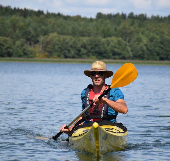 Nicolas et son kayak : c'est une affaire qui roule
