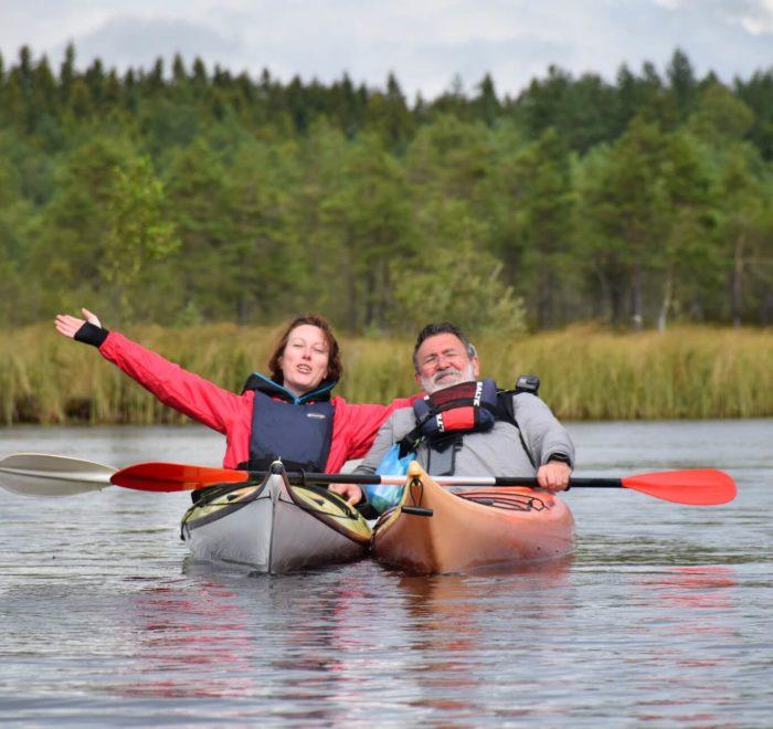 Emilie et Jean-Jacques sur le lac d'Hamari