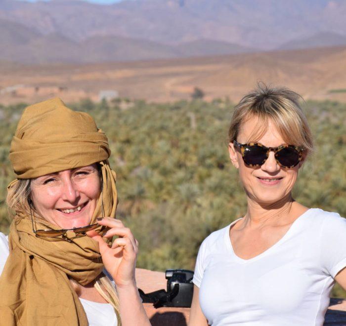 Caroline et Brigitte au cœur de l'Atlas marocain
