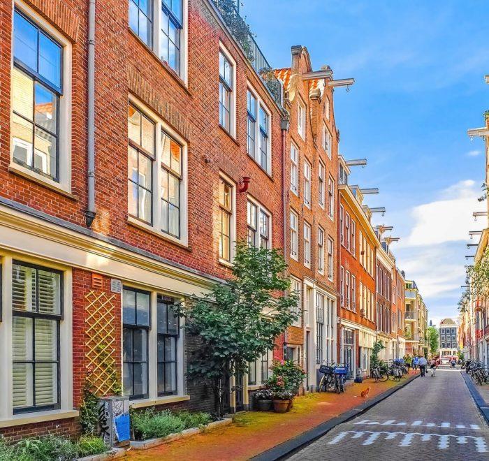 Rues et maisons typiques d'Amsterdam