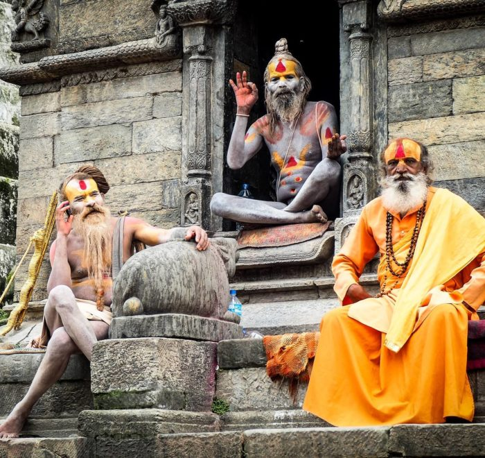Les Sadhous (ascètes hindous) de Pashupatinath