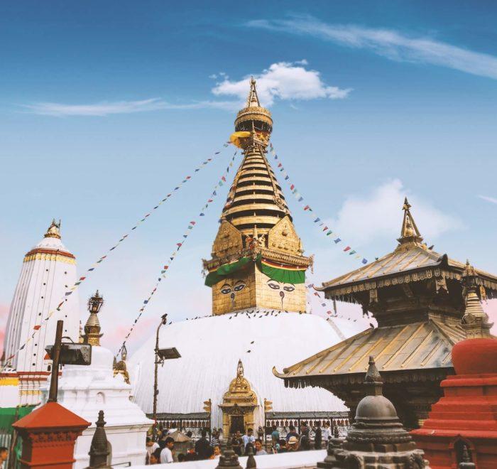 Le Grand Stupa de Swayambunath