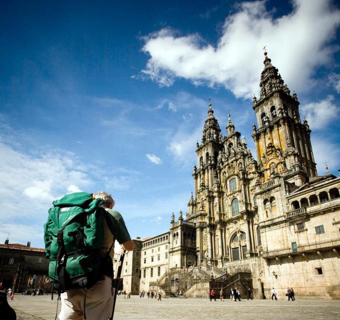 Fin du voyage à la Cathédrale de Saint-Jacques-de-Compostelle | © Turismo de Galicia
