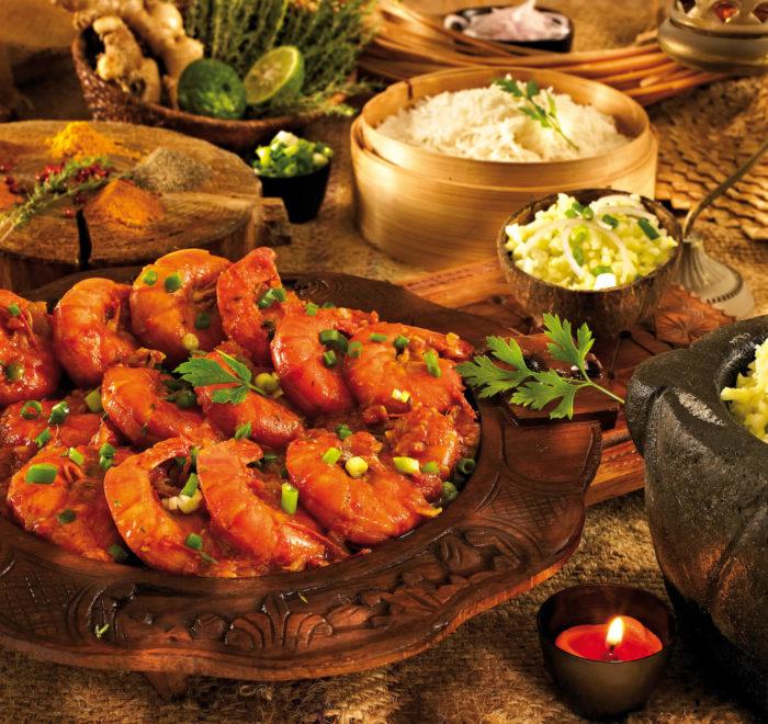 Gastronomie réunionnaise, carry camarons | © IRT / Studio Lumière
